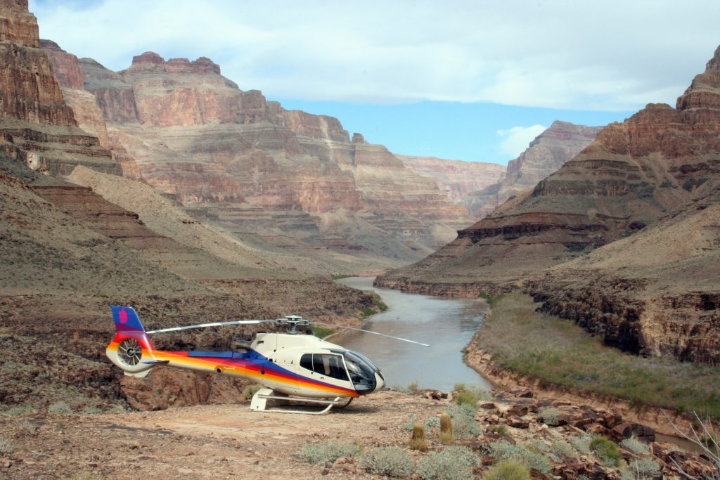 Landing in de Grand Canyon