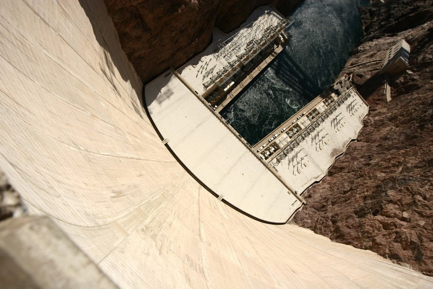 Uitzicht vanaf de Hoover Dam