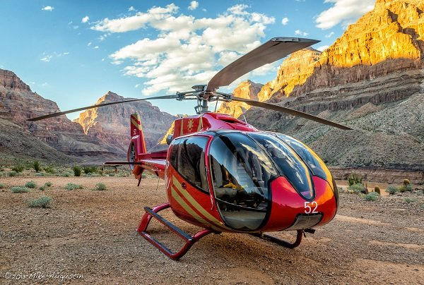 helikoptervlucht Grand Canyon landing