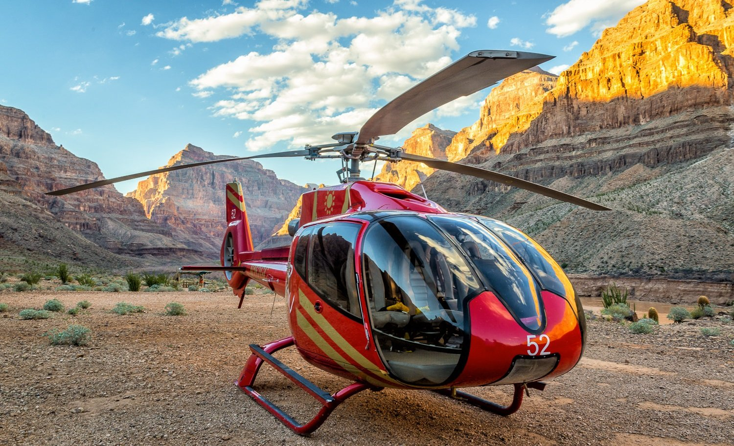 Top-10 helikoptervluchten over de Grand Canyon